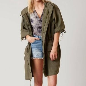 Free People ReWorked Army Jacket Olive Green NWT